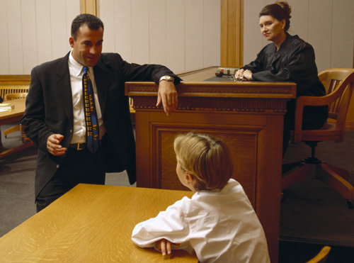 Boy in Court
